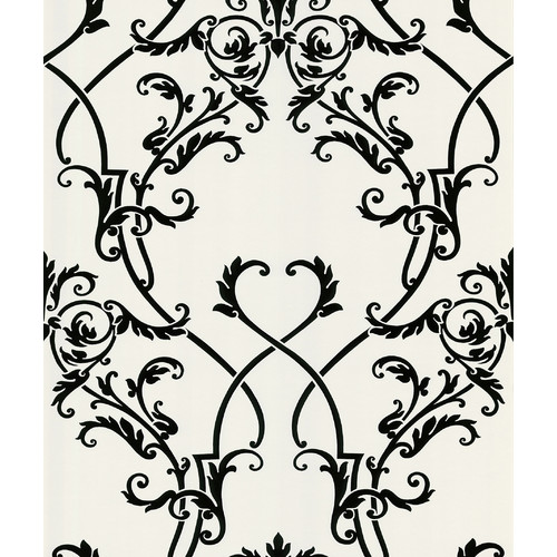 Brewster Home Fashions Ink Chandelier 33' x 20.5'' Damask 3D Embossed Wallpaper