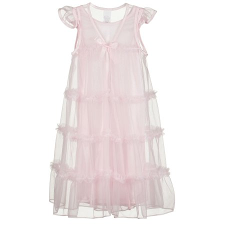 Princess Peignoir Night Gown and Robe Set, (2T - 14)