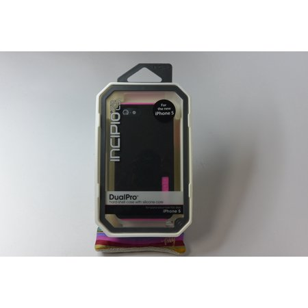 New OEM Incipio iPhone 5 5S SE Black Pink DualPro Shell Gel Snap On Cover Case (Pink Gel Iphone 5 Case)