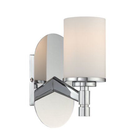 Lite Source Lina 1-Light Wall Lamp, Chrome Finish with Frosted Glass -