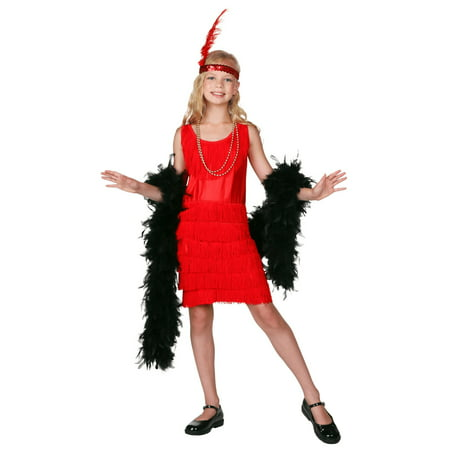 Childs Fringe (Child Red Fringe Flapper Costume)