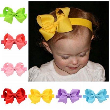 20PCS Baby Headbands,Kapmore Elastic Bowknot Baby Hair Band Baby Head Wrap for Infants