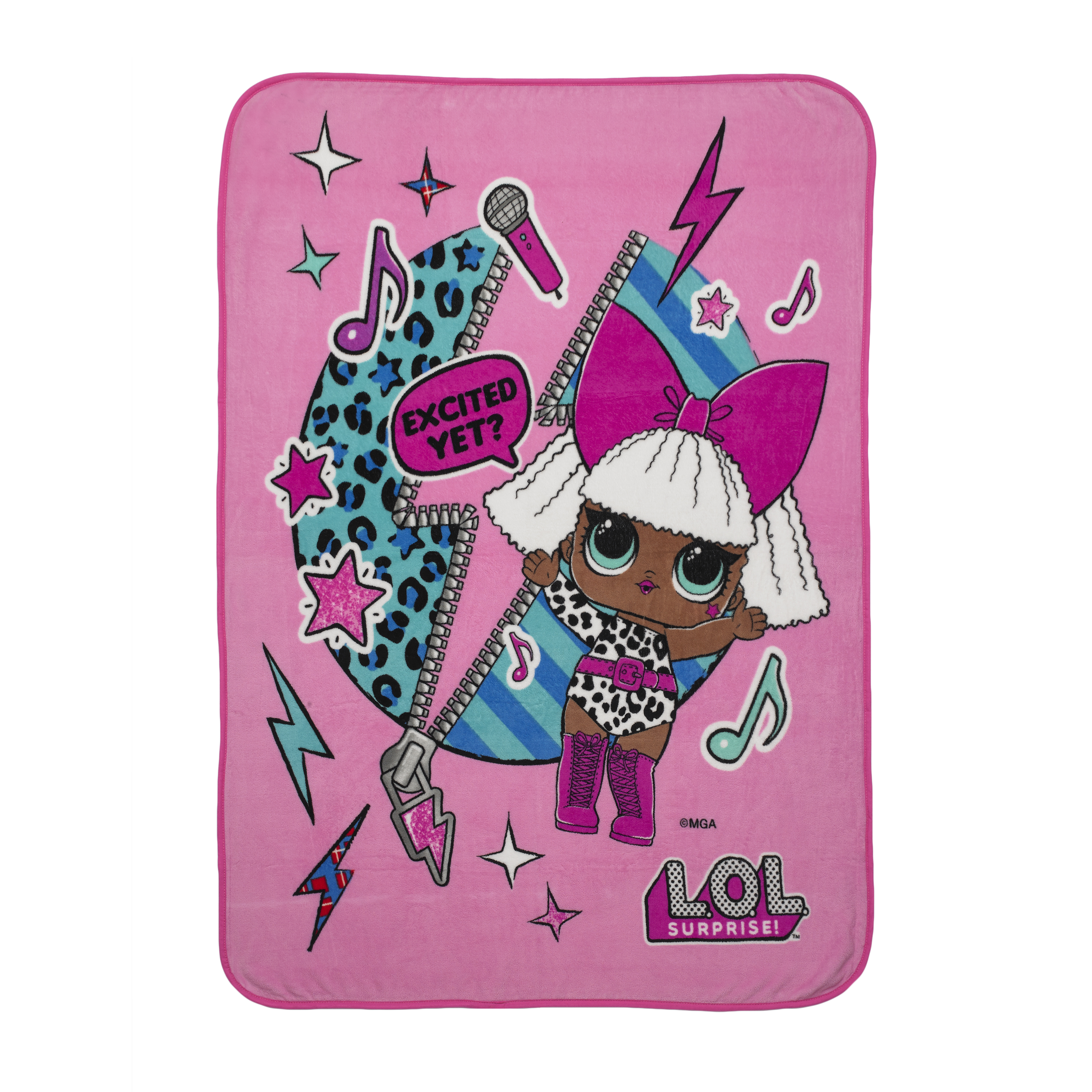 L.O.L. Surprise! Totally Diva Kids Bedding Throw, 1 Each