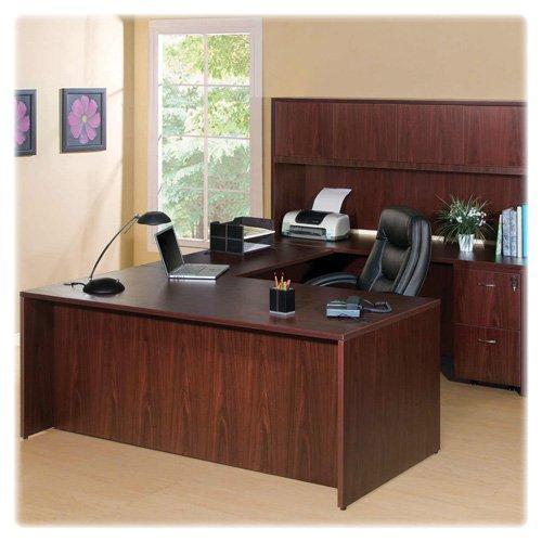 "Lorell Essentials Series Mahogany Laminate Desking - 41"" Width X 71"" Depth X 29.5"" Height - Polyvinyl Chloride [pvc] - Mahogany Laminate (llr-59550)"
