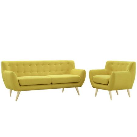 Modway Remark 2 Piece Living Room Set EEI-1784-SUN-SET