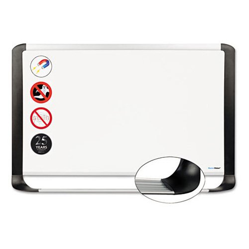 MasterVision Porcelain Magnetic Dry Erase Board, 24x36, White/Silver
