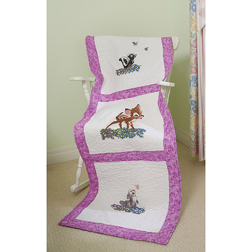Disney Dreams Stamped Quilt Blocks, 3 Designs, Bambi's First Year, 6pk