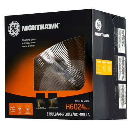 GE Lighting H6024 Halogen Sealed Beam Headlight Bulb Nighthawk Replacement,
