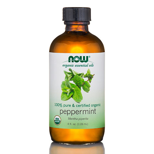 NOW Organic Essential Oils - Peppermint - 4 fl. oz (118 ml) by NOW
