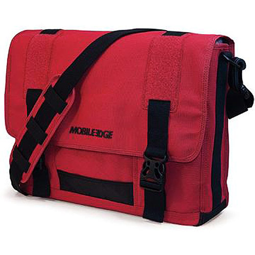 Mobile Edge Eco-Friendly Canvas Messenger, Red