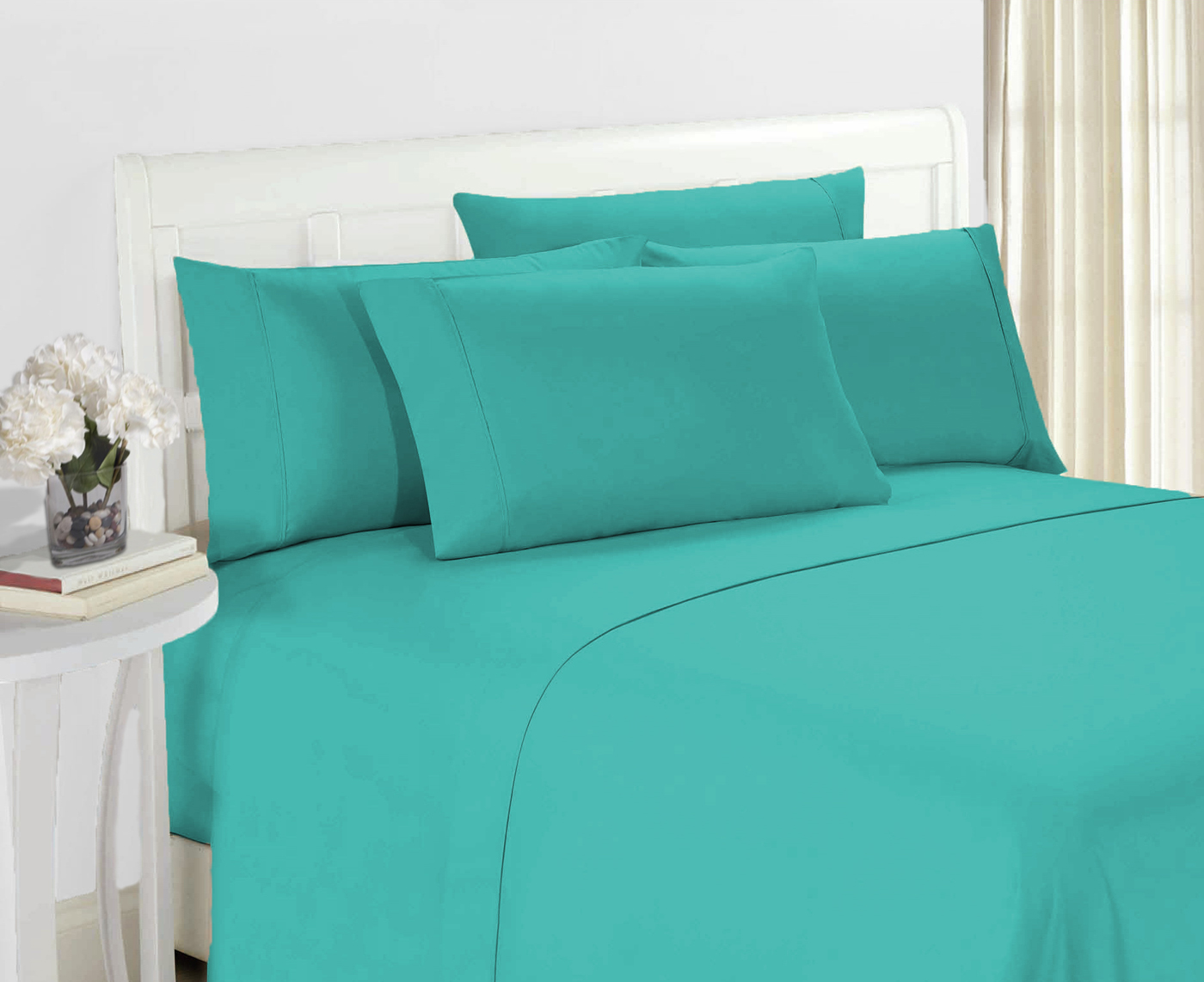 Hotel Super Soft 6 Piece Bed Sheet Set Deep Pockets Bedding   All Colors  Sizes