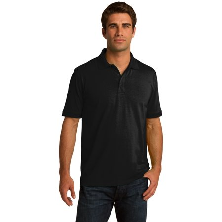 - Sportoli® Men's Cotton Blend Solid Everyday Uniform Short Sleeve Polo Shirt Top