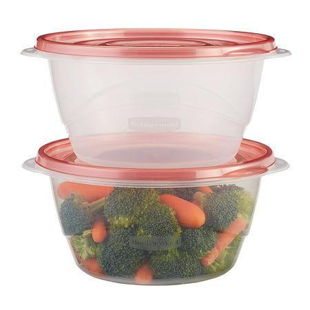 TakeAlongs 6.2 Cup Medium Bowls, Food Storage Container, 3 Pack, New quick-click seal with an improved lid clicks in place, ensuring contents.., By Rubbermaid Ship from US