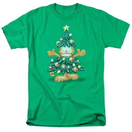 Garfield Tree Mens Short Sleeve Shirt