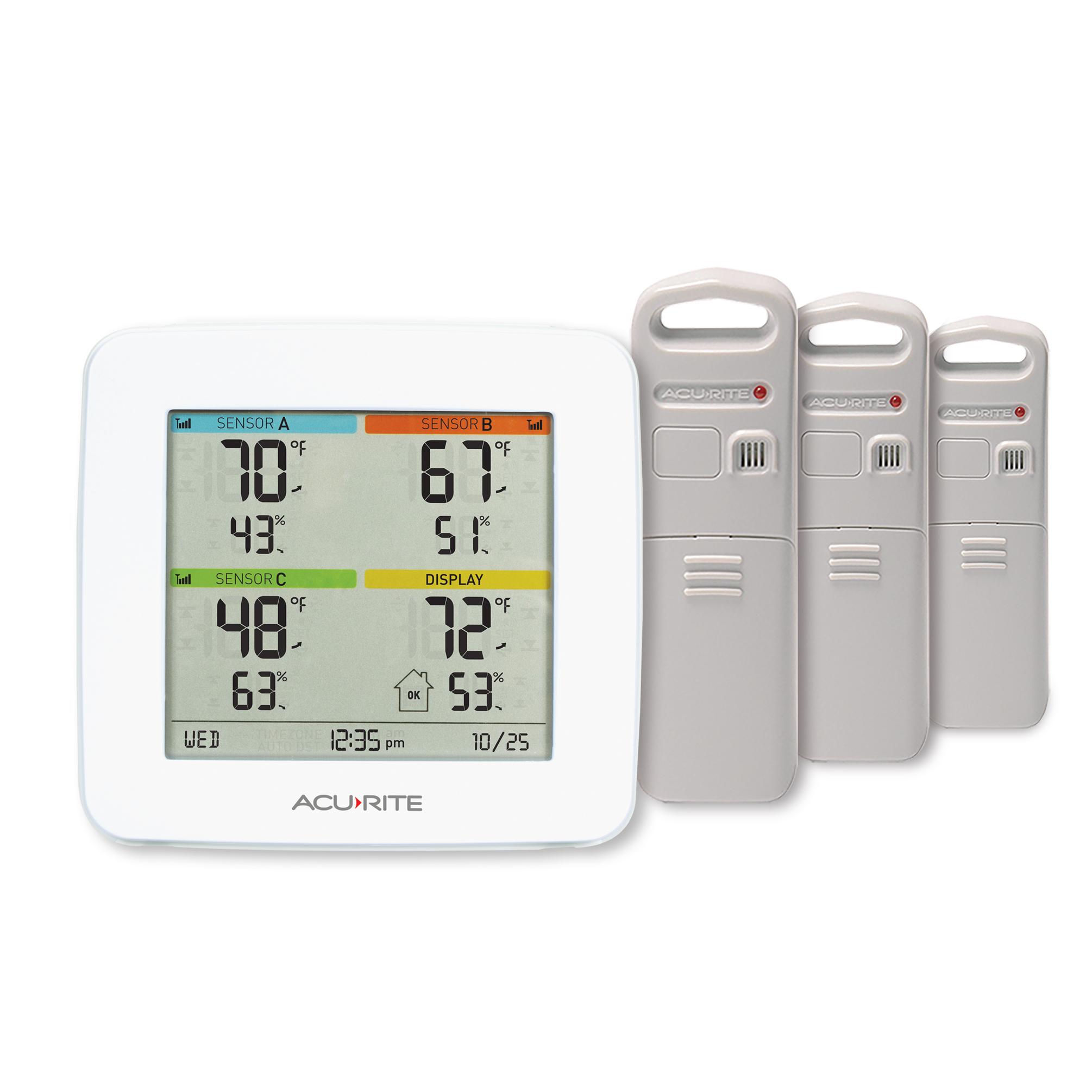 Outdoor Sensors,Full Color AcuRite 02082M Home Temperature ...