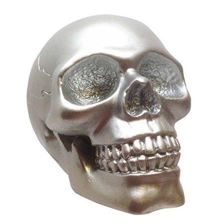 SMALL SOLID SILVER SKULL FIGURINE SCULPTURE SKELETON HALLOWEEN GHOST HAUNTING](Haunting Halloween Photos)