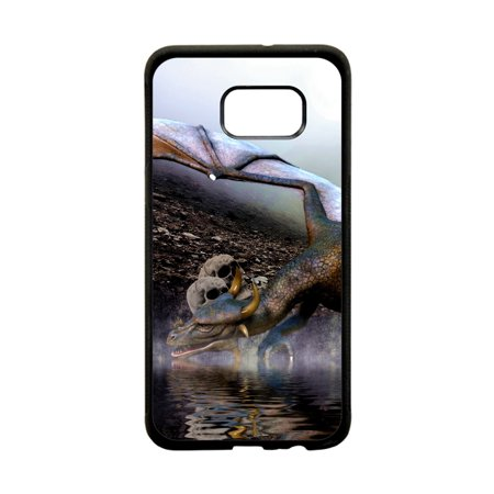 Dragon and Skulls Design Protective Black Plastic Phone Case Cover That Is Compatible with the Samsung Galaxy s8 Plus / s8+ / s8P