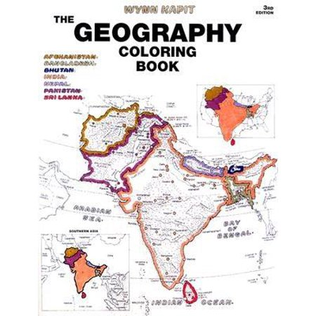 The Geography Coloring Book (Paperback) - Coloring Pages For Girls 10 And Up