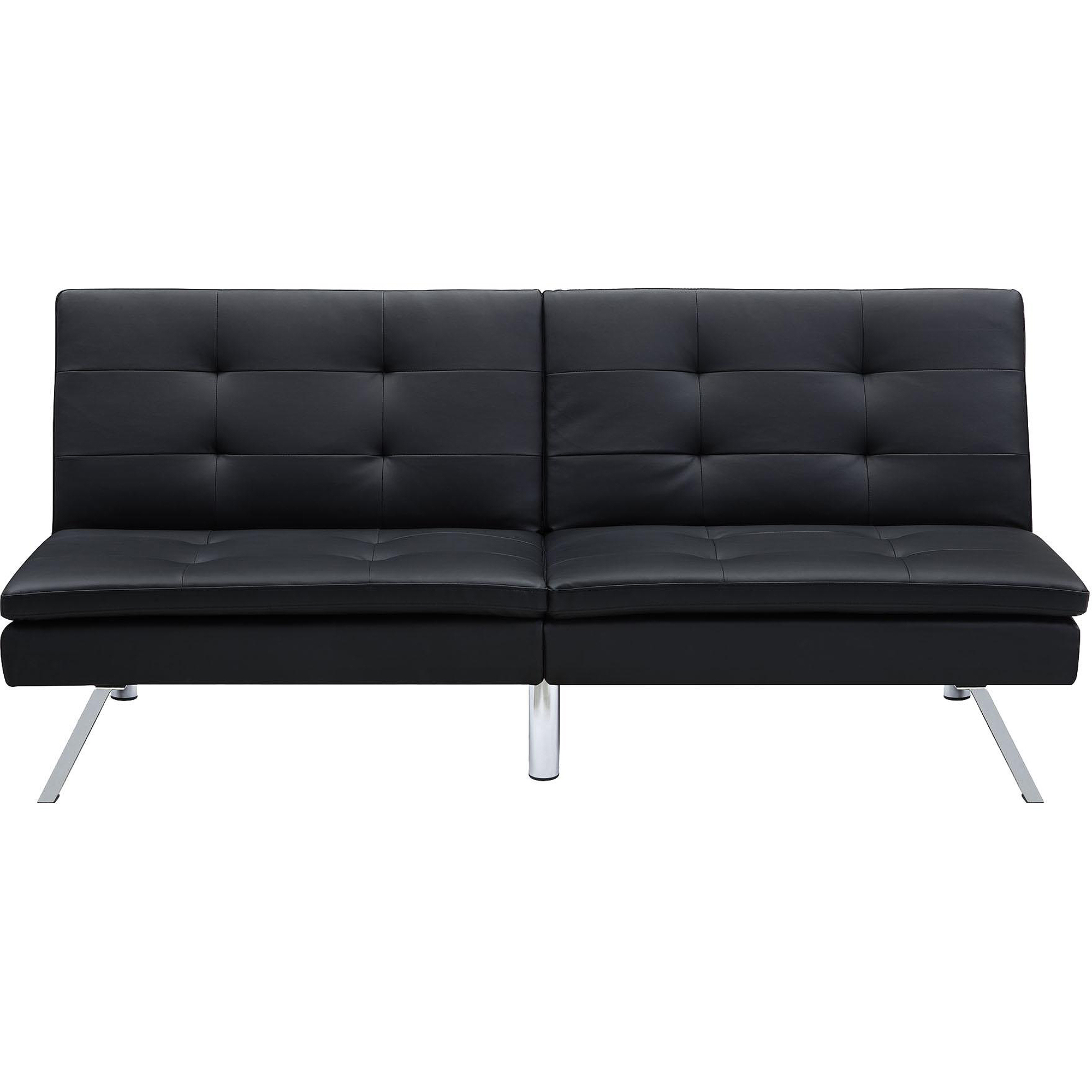 Astounding Dhp Chelsea Convertible Pillow Top Sofa Futon Black Walmart Com Machost Co Dining Chair Design Ideas Machostcouk