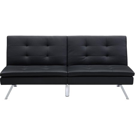 Dhp Chelsea Convertible Pillow Top Sofa Futon Black