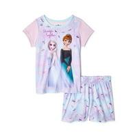 Deals on Disney Frozen 2 Anna and Elsa Girls Short Sleeve Top & Shorts