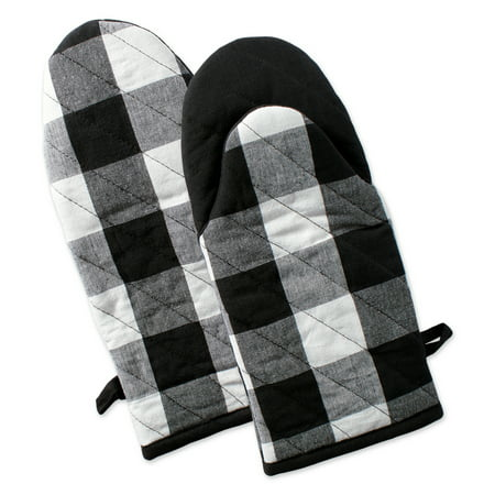 Check Oven Mitt (DII Buffalo Check Kitchen Oven Mitts, Set of 2, 13