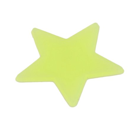 Room PVC Star Shaped Decor Glow in the Dark Wall Sticker Decal Yellow 100 Pcs - image 1 of 3