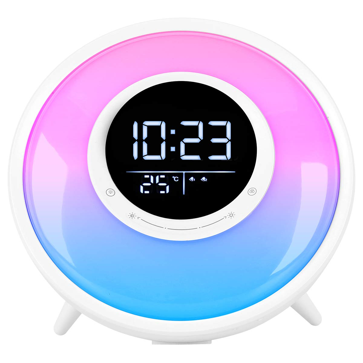 Fivehome All In One Wake Up Light Alarm Clock With Fm