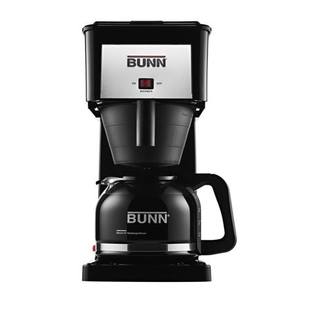 Bunn Coffee Decanter - BUNN Coffee Pot Decanter / Carafe Black Regular - New Glass Design Shape - Ergonomic Handle - 12 Cup Capacity - Set of 1