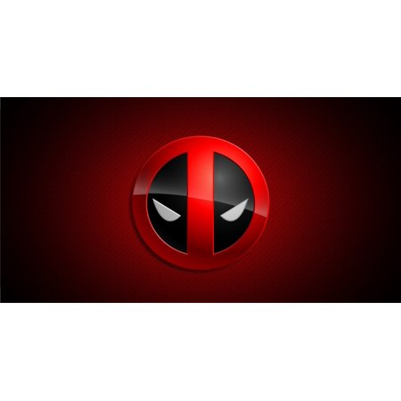 Deadpool Logo Photo License Plate