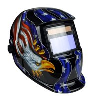 Instapark ADF Series GX-800S Solar Powered Auto Darkening Weld/Grind Selectable Welding Helmet with Adjustable Shade Range 9-13 (Bald Eagle)