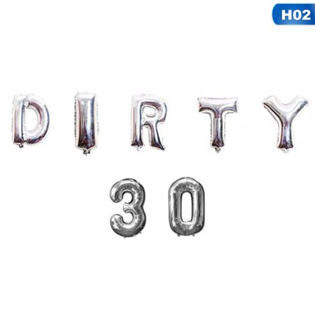 30th Party Decorations (KABOER Dirty 30\/Hello 30 Foil Balloons Birthday Party 30Th Decorations Gold, Silver ,Rose)