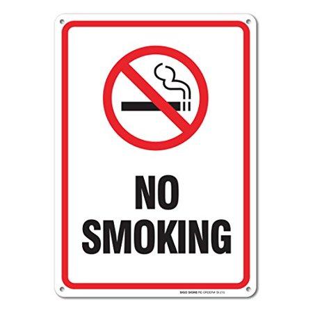 No Smoking Sign, Smoking Sign Legend 10 X 7 Rust Free 0.40 Aluminum Sign