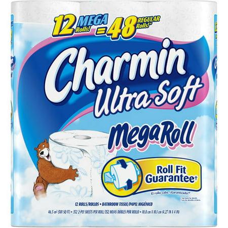 Charmin Ultra Soft Toilet Paper Mega Rolls 308 Sheets 12