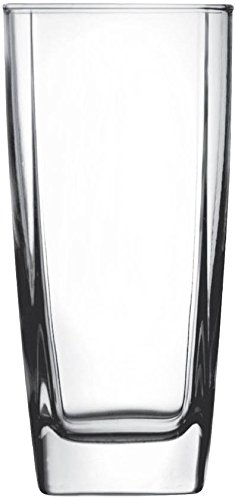 "Circleware CG Society ""Ice Cube"" Square Glass Drinking Glasses, 17 Ounce, Set of... by"
