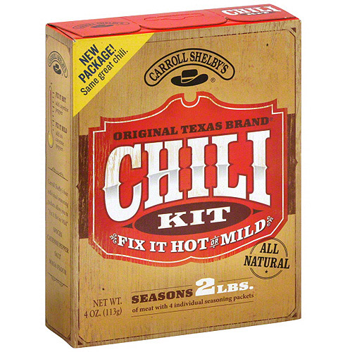 Carroll Shelby's Original Texas Brand Chili Mix, 4 oz (Pack of 12)