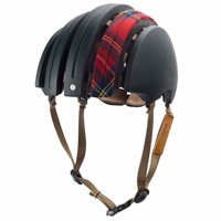 Brooks Carrera Packable - J.B. Collection Green/Red Tartan Foldable Helmet Size XL
