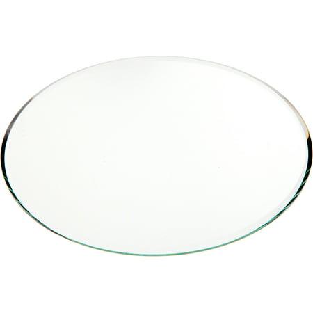 Plymor Round 3mm Beveled Glass Mirror, 6 inch x 6