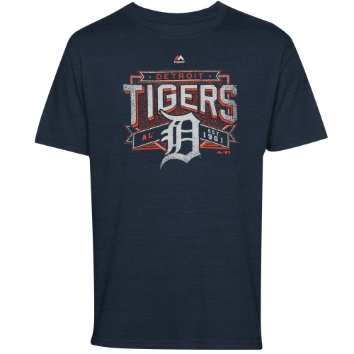 Majestic Detroit Tigers Youth Unassisted T-Shirt - Navy Blue