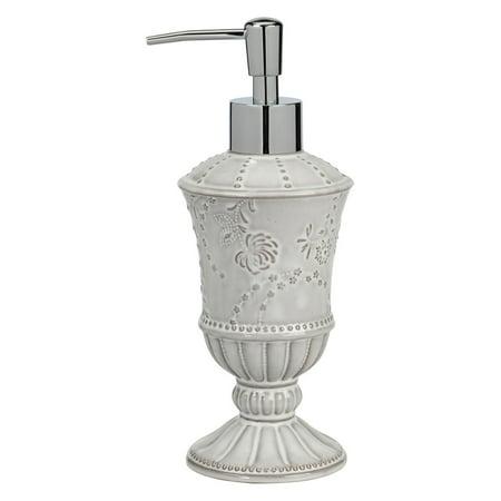 Creative Bath Eyelet Ceramic Lotion Pump, White Wash