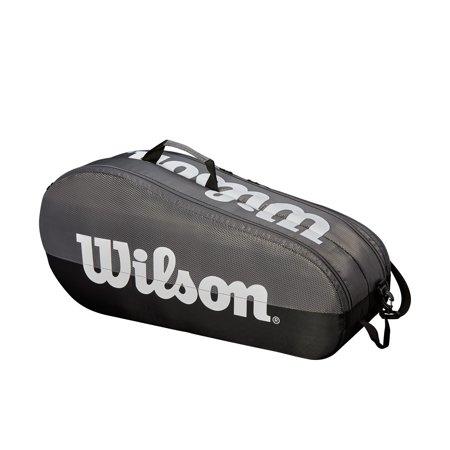 - Wilson Team 6 Pack Racket Bag, Black/Red