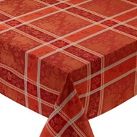 "DII Decorative Holiday Jacquard Tablecoth, 60x84"", Pumpkin Vine"