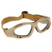 Eye Protective Clear Goggles Tactical Safety Glasses High Quality - Tan