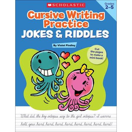 Cursive Writing Practice Jokes   Riddles  Grades 2 5