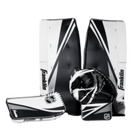 Franklin Sports Street Hockey Goalie Set - Leg pads - Catch glove - Blocker - Premium Durability - Officially Licensed NHL Product