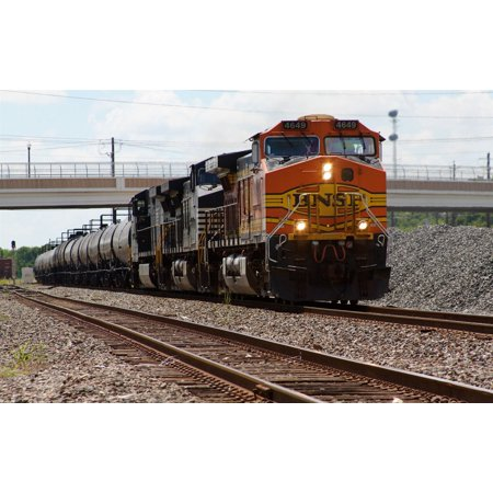 Canvas Print Eastbound BNSF manifest at Rosenberg Texas. Led by BNSF #4649 (GE Dash 9-44CW) and 2 Norfolk Souther Stretched Canvas 10 x 14