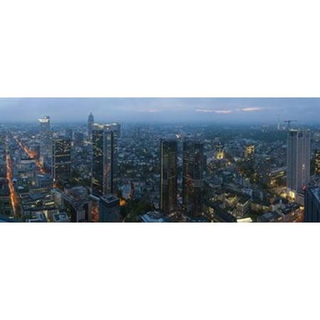 Aerial view of a city Frankfurt Hesse Germany Canvas Art - Panoramic Images (15 x 6) - Halloween Frankfurt Germany