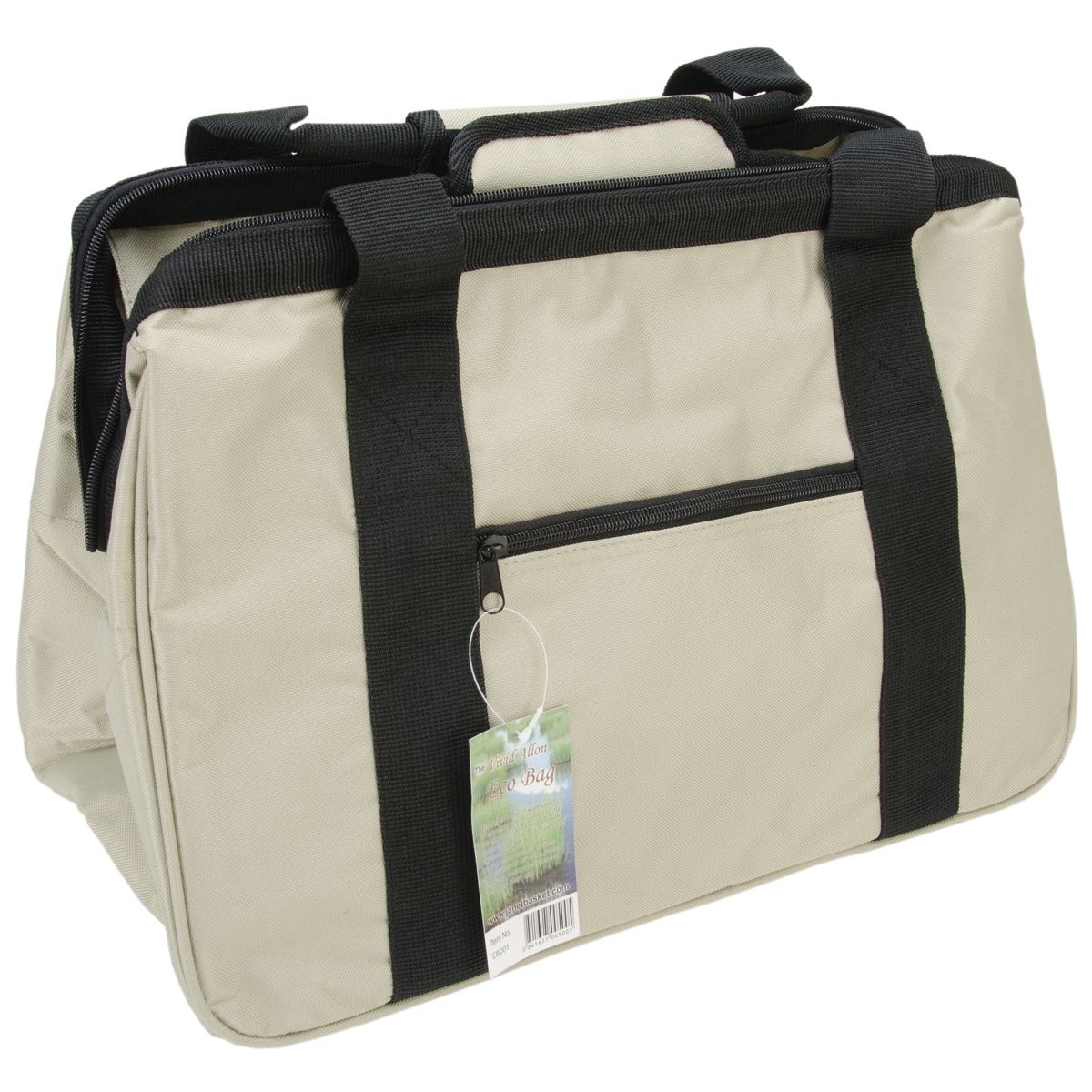 JanetBasket Eco Bag, 18-Inch x 10-Inch x 12-Inch, Olive Multi-Colored