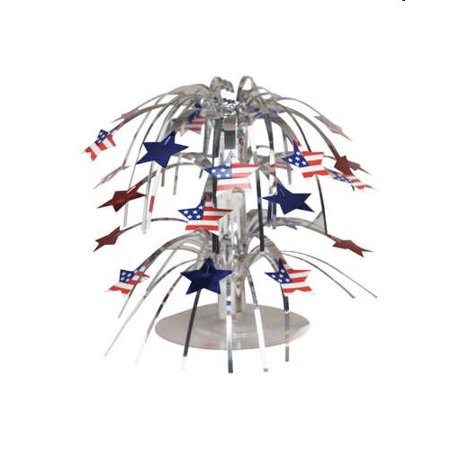 Patriotic Party Mini Stars Cascade Centeriece (Patriotic Mint)