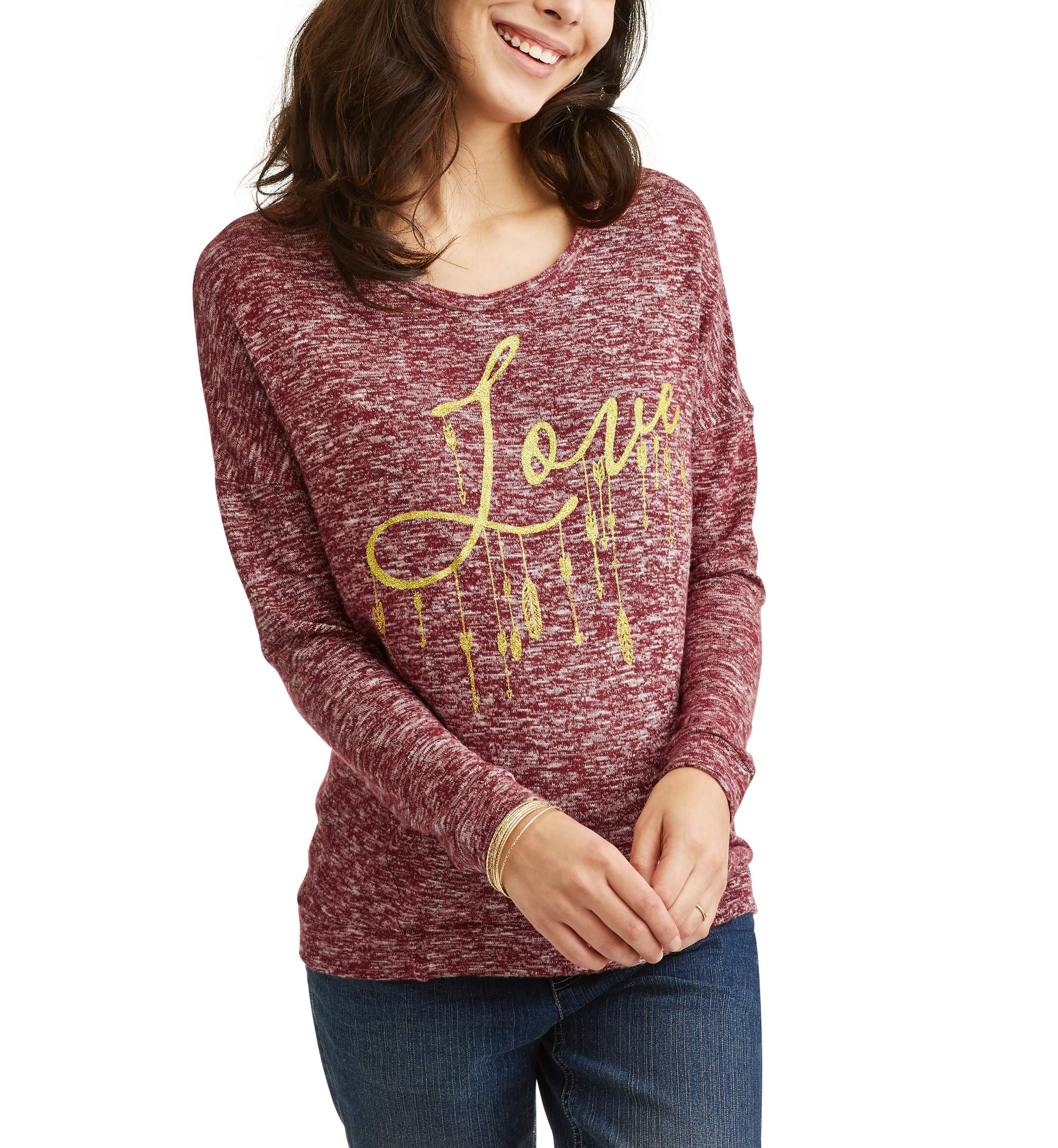 Maternity Love Graphic Sweatshirt by White Mark